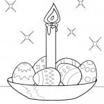 Easter Eggs and a Candle for coloring