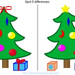Find the difference between these Christmas trees
