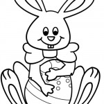 Easter Rabbit for coloring