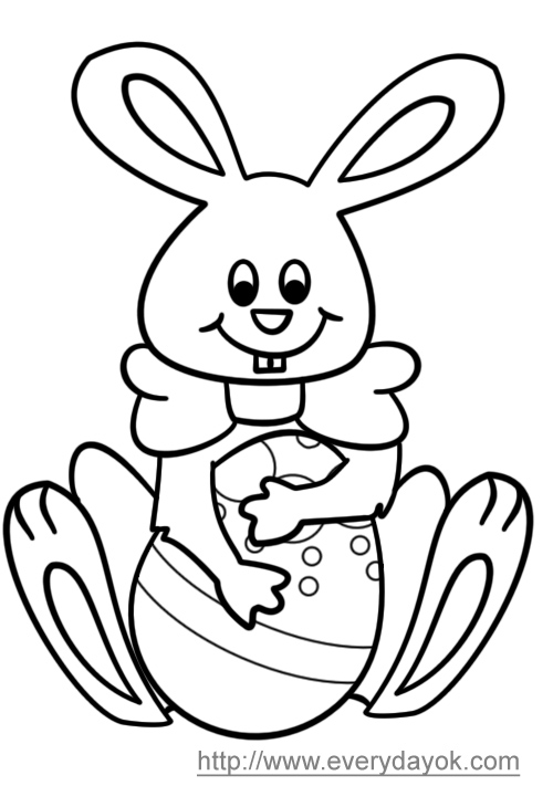 easter eggs coloring pictures. easter eggs in a basket.