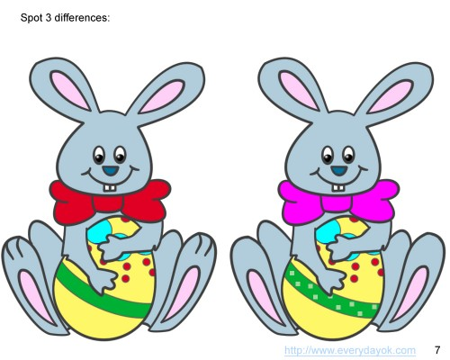 Find the difference between two Easter Rabbits