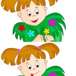 Girl with flowers, spot the difference image